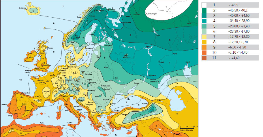 природни зони - карта